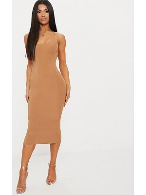 PrettyLittleThing second skin slinky scoop neck midi dress