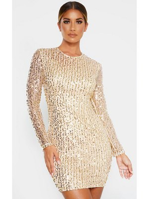 PrettyLittleThing sequin long sleeved bodycon dress
