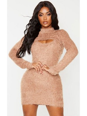 PrettyLittleThing shape eyelash knit extreme crop top
