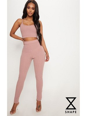 PrettyLittleThing shape high waist ribbed leggings