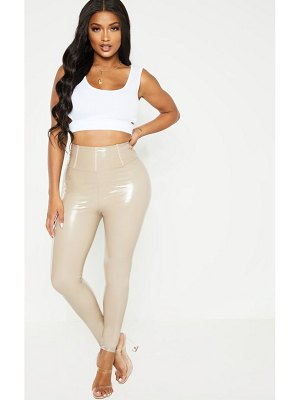 PrettyLittleThing shape high waist vinyl leggings