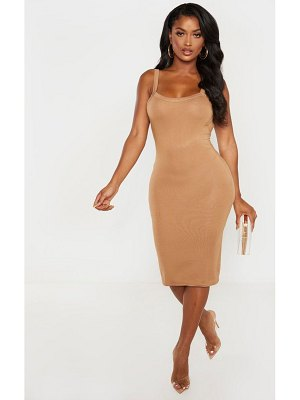 PrettyLittleThing shape jersey scoop back bodycon dress