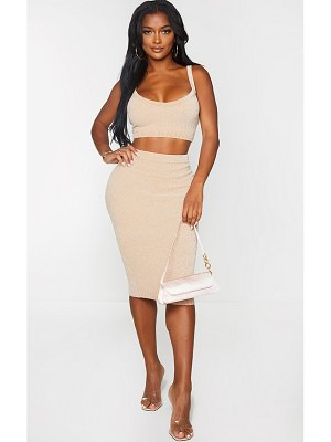 PrettyLittleThing shape knit midi skirt