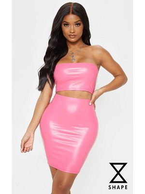PrettyLittleThing shape pu mini skirt