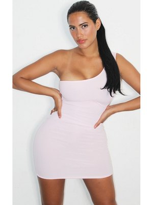 PrettyLittleThing shape rib one shoulder underbust bodycon dress