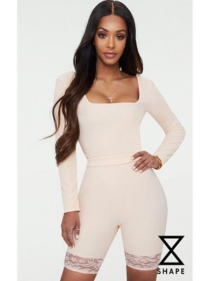 PrettyLittleThing shape ribbed square neck bodysuit