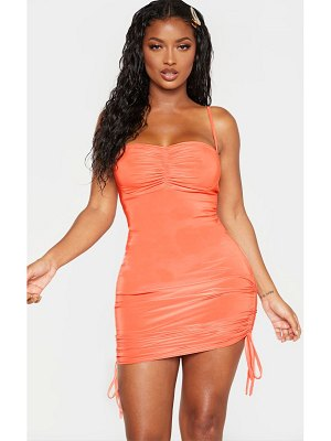 PrettyLittleThing shape ruched detail strappy bodycon dress