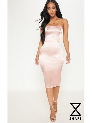 PrettyLittleThing shape satin bandeau midi dress