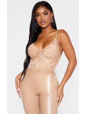 PrettyLittleThing shape sheer lace bodysuit