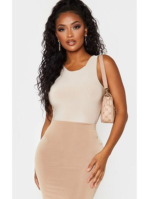 PrettyLittleThing shape sleeveless slinky bodysuit