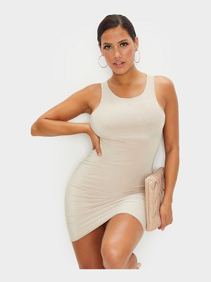 PrettyLittleThing shape slinky sleeveless bodycon dress
