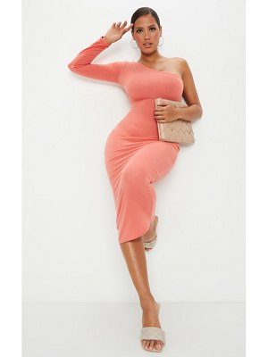 PrettyLittleThing shape soft knit one shoulder midaxi dress