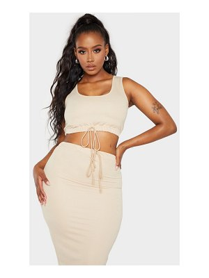 PrettyLittleThing shape sweat sleeveless crop top