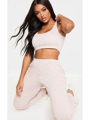 PrettyLittleThing shape sweat sleeveless cropped top