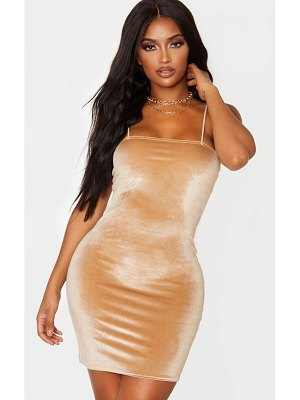 PrettyLittleThing shape velvet strappy mini dress