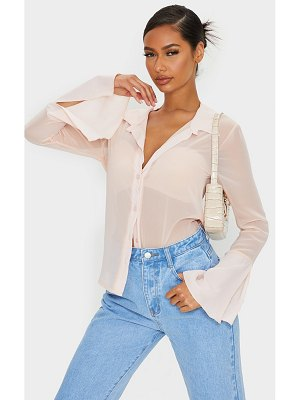 PrettyLittleThing sheer chiffon shirt