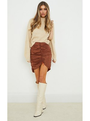 PrettyLittleThing shell toggle ruched front mini skirt