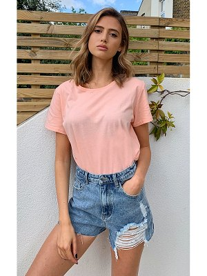 PrettyLittleThing short sleeve fitted t shirt