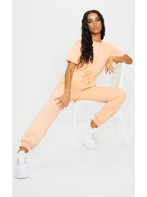 PrettyLittleThing short sleeve sweat jumpsuit