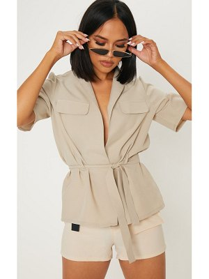 PrettyLittleThing short sleeve utility shirt
