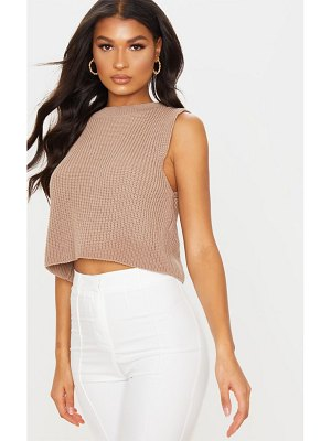 PrettyLittleThing sleeveless slouchy knitted vest