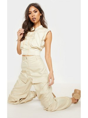 PrettyLittleThing sleeveless utility zip top