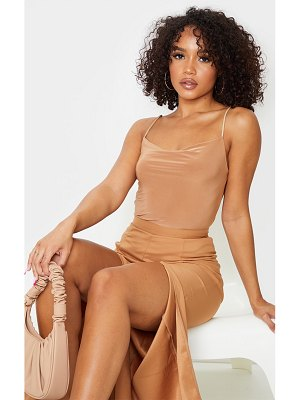 PrettyLittleThing slinky cowl neck crop cami top