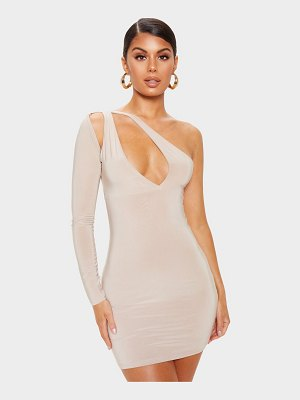 PrettyLittleThing slinky cut out detail one shoulder bodycon dress