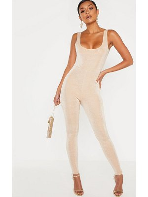 PrettyLittleThing slinky ruched back jumpsuit