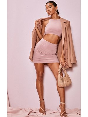 PrettyLittleThing slinky seam front mini skirt