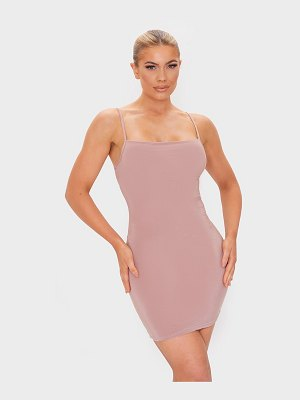 PrettyLittleThing slinky strappy bodycon dress