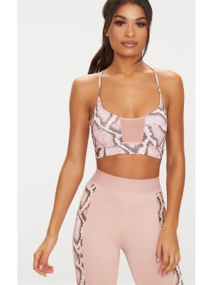 PrettyLittleThing snake print crop top