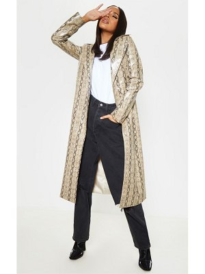 PrettyLittleThing snake pu trench
