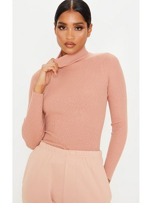 PrettyLittleThing soft knit fine rib roll neck sweater