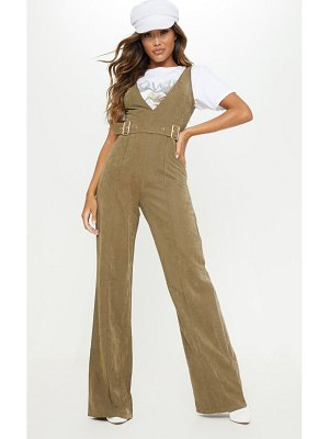 PrettyLittleThing soft touch belted wide leg jumpsuit