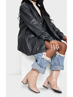 PrettyLittleThing square toe mid flare block heels ankle boots