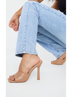 PrettyLittleThing square toe mule high heels