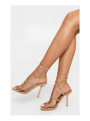 PrettyLittleThing squared strappy heels