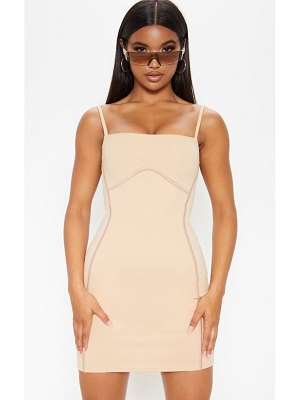 PrettyLittleThing strappy binding bust detail bodycon dress