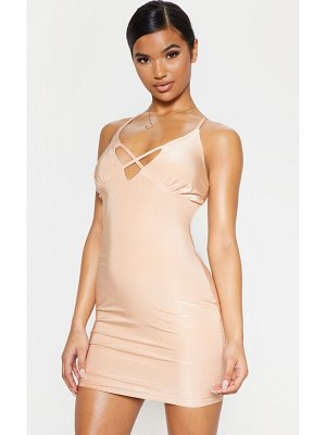PrettyLittleThing strappy bust detail bodycon dress