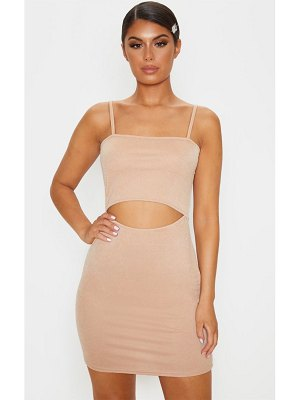 PrettyLittleThing strappy centre cut out bodycon dress