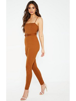 PrettyLittleThing strappy d ring detail jumpsuit
