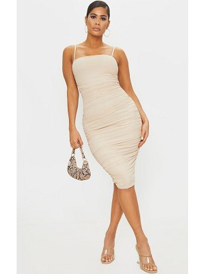PrettyLittleThing strappy mesh midi dress