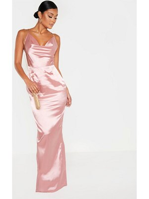PrettyLittleThing strappy satin maxi dress