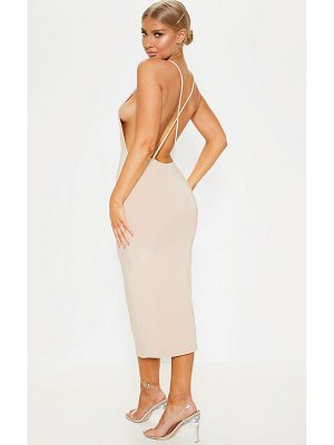 PrettyLittleThing strappy slinky cross back midi dress