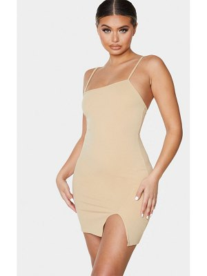 PrettyLittleThing strappy split hem bodycon dress