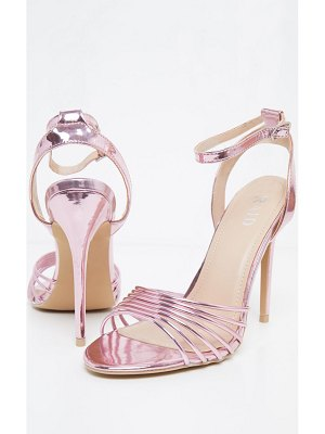 PrettyLittleThing strappy toe metallic sandal