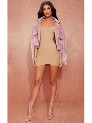 PrettyLittleThing strappy wrap skirt bodycon dress