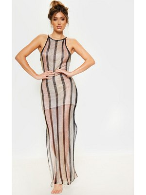 PrettyLittleThing stripe detail knitted maxi dress