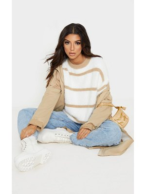 PrettyLittleThing stripe fluffy sweater